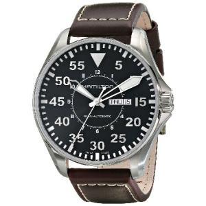 ハミルトン Hamilton Men's H64715535 Khaki Pilot Black D...