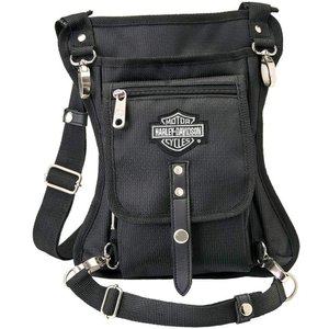 ハーレーダビッドソン Harley-Davidson Side Slinger 2-IN-1 Shoulder Bag/Leg Holster - Black 98223【並行輸入品】 importdvd-com