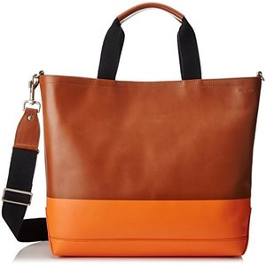 Jack Spade Men's Dipped Leather Tote, Tobacco/Oran...