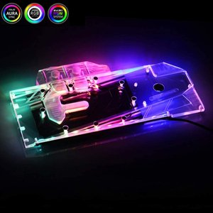 Bykski GPU Copper RBW LED Water Cooling Block for ...