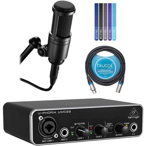 Audio-Technica AT2020 Cardioid Condenser Microphon...