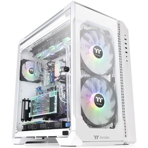 Thermaltake View 51 TG ARGB Snow Gaming Case, CA-1...