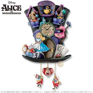 不思議の国のアリス アリス ワンダーランド マッドハッター 壁時計 帽子 鳩時計 ディズニー Disney Alice In Wonderland