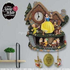 白雪姫と7人の小人 壁時計 鳩時計 ディズニー Disney Snow White Illuminated Musical Wall Clock With Motion importfan