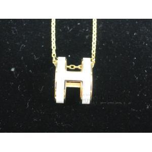 HERMES(エルメス)/ポップアッシュネックレス/ホワイト×ゴールド【新品】 importleon 02