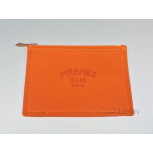 HERMES(エルメス)/ヨッティングフラットポーチ/PM/オレンジ【新品】 importleon