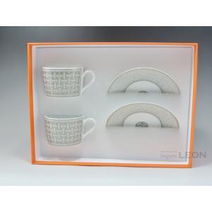 HERMES(エルメス)/ エルメス モザイク ティーカップ&ソーサー ペア 160ml|importleon