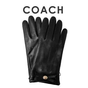 コーチ COACH 手袋 ターンロックボウレザーグローブ(サイズ7/サイズ7 1/2) 55189 BLK(ブラック)