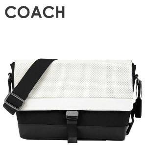 COACH BLK ボディバッグ72234 コーチ 送料無料 メンズ テリアンパーフォレイテッドレザーショルダーバッグ/ (ブラック)