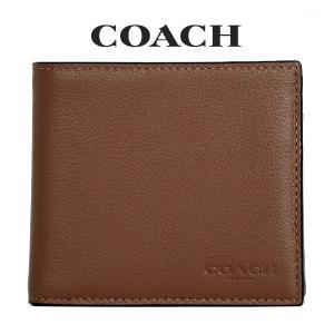 コーチ COACH メンズ 二つ折り財布 F75003 CWH(ダークサドル)