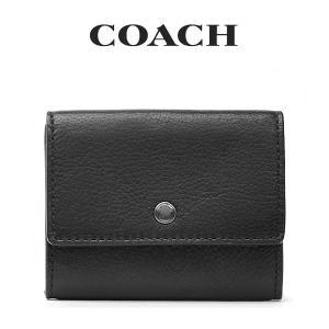 コーチ COACH メンズ カーフレザーコインケース/小銭入れ 75024 BLK(ブラック)