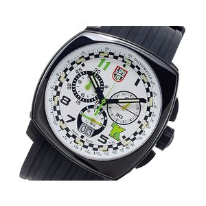 ルミノックス LUMINOX トニーカナーン クオーツ メンズ クロノ 腕時計 1147 ホワイト x ブラック|importshippers