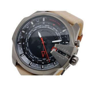 ディーゼル DIESEL クオーツ メンズ ワールドタイム 腕時計 DZ4306 ブラック x ブラウン importshippers