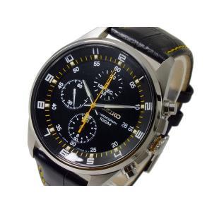 セイコー SEIKO クオーツ メンズ クロノ 腕時計 SNDC89P2 ブラック