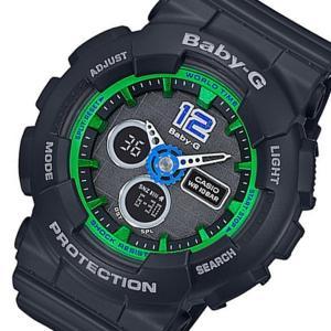 カシオ CASIO ベビーG Baby-G デジタル レディース 腕時計 BA-120-1B ブラック importshippers