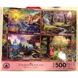 【商品名】Disney Thomas Kinkade Set of 4 500 Piece Puzz...