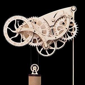 Wooden Mechanical Clock Kit 木製の機械時計キット