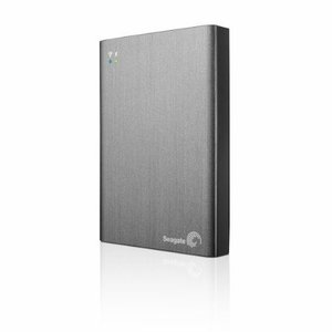 SEAGATE ワイヤレスポータブルHDDの進化版 ワイレスプラス 1TB(Wi-Fi ストリーミング内蔵)Seagate