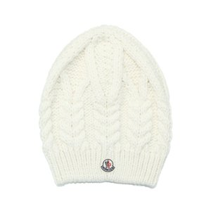 MONCLER モンクレール ニットキャップ WHITE ホワイト[0037700 09918 034]|importshopdouble