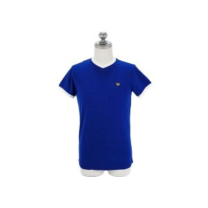 ARMANI JEANS アルマーニジーンズ メンズ半袖Tシャツ C6H08 QK 8 ブルー アル...