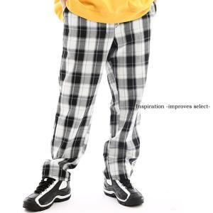 Inspiration improves select  チェック柄 イージーパンツ ゴムウエスト チェック ボトムス  韓国 ファッション|improves