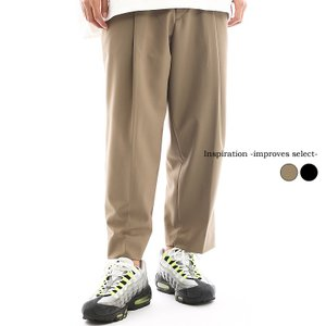 Inspiration improves select ワイドパンツ スラックス タックパンツ センタープレス ビッグサイズ 韓国 ファッション|improves