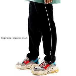 Inspiration - improves select - ライン ジャージ スラックス パンツ イージーパンツ タックパンツ センタープレス モード インプローブス 韓国 ファッション|improves