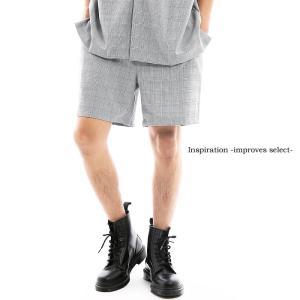 Inspiration - improves select - グレンチェック ショートパンツ イージー ショーツ ヒザ上丈 半ズボン ゴムウエスト インプローブス 韓国 ファッション improves