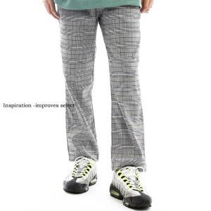 Inspiration - improves select - イージーパンツ メンズ ウエストゴム グレンチェック 柄 チェック柄 インプローブス 韓国 ファッション|improves