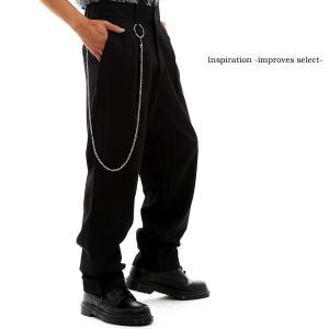 Inspiration improves select パンツ チェーン付き メンズ ワイドパンツ インプローブス 韓国 ファッション|improves