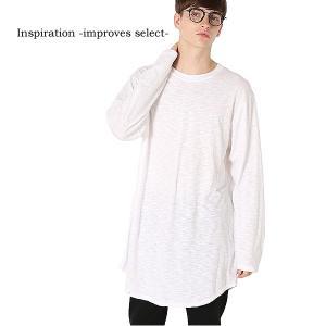 Inspiration improves select カットソー 長袖 シアーカットソー ビッグサイズ 黒 白 メンズファッション メンズ 冬服 秋冬 インプローブス 韓国|improves