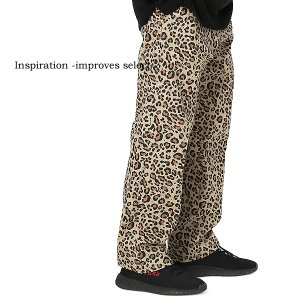 Inspiration improves select  チノパン パンツ ボトムス レオパード ヒョウ柄 ワイド メンズファッション メンズ 冬服 秋冬 インプローブス 韓国 improves