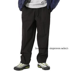 Inspiration improves select  イージーパンツ パンツ ボトムス 黒 メンズファッション メンズ 秋服 冬服 秋冬 インプローブス 韓国|improves