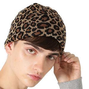 Inspiration improves select ニットキャップ ニット帽 帽子 キャップ レオパード ヒョウ柄 防寒 メンズファッション メンズ インプローブス 韓国|improves