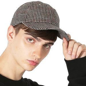 Inspiration improves select キャップ 千鳥柄 ベースボールキャップ チェック 帽子 フリーサイズ メンズファッション メンズ インプローブス 韓国|improves