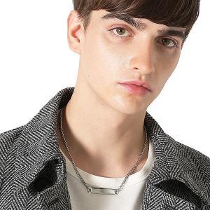 Inspiration improves select プレートネックレス ペンダント メンズジュエリー 銀 チェーン メンズファッション メンズ インプローブス 韓国|improves