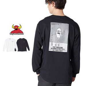 TOY MACHINE トイマシーン 長袖Tシャツ メンズ Tシャツ 長袖 ロングTシャツ ロンT ロンティー ロゴ プリント カットソー 白 インプローブス improves|improves