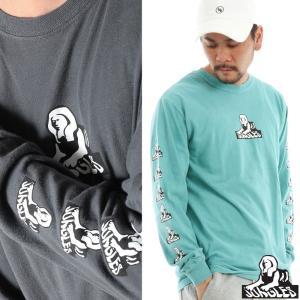 JUNGLES ジャングルス ロングスリーブTシャツ メンズ Tシャツ ロゴ プリント