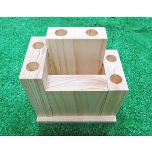天然無垢桧(ひのき)ペンスタンド(4個キット)|inaba-wood