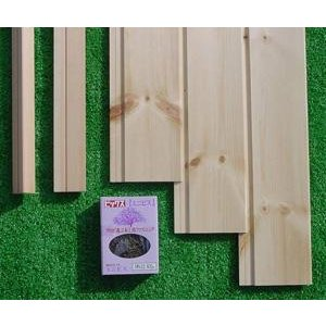 シルバーパインらくらく腰壁作成セット【Aタイプ・V溝加工タイプ】節ありグレード|inaba-wood