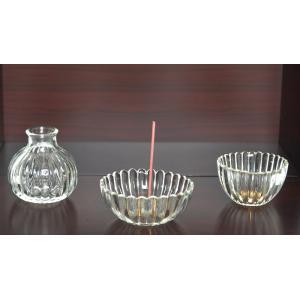 クリスタル ミニ 3点セット 仏具セット  クリスタルガラスのおしゃれな仏具セット(三具足) 花立て...