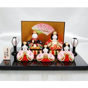 雛人形 薬師窯 錦彩華みやびかざり雛 陶器|inababutudanten