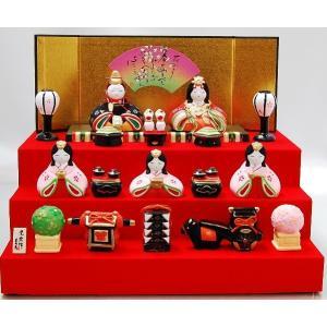 雛人形 薬師窯 錦彩華みやび段飾り雛 ひな人形 陶器|inababutudanten
