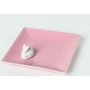 香皿 陶器香皿&ウサギ香立 セット 線香立て 【おためし線香20本付】|inababutudanten