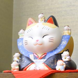 錦彩七福神福助招き猫 7号|inababutudanten
