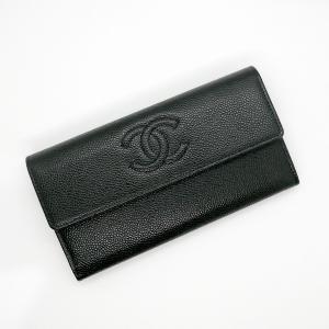 【中古SA】シャネル CHANEL 長財布 キャビアスキン ブラック 中古良品 inage78