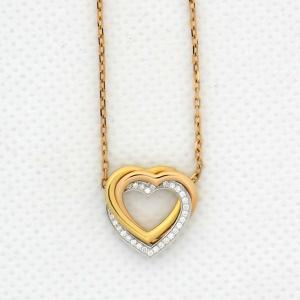 【中古】カルティエ CARTIER ネックレス トリニティドゥカルティエ ダイヤモンド 750 40cm 仕上げ済み|inage78