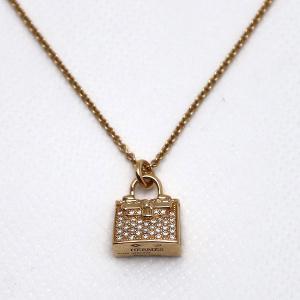 【中古】エルメス アミュレット ケリー ダイヤモンド ネックレス 750PG D0.21|inage78