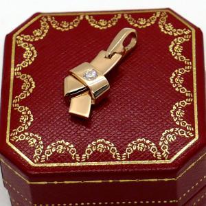 【中古】カルティエ CARTIER ノット チャーム ダイヤモンド 750PG ペンダントヘッド 仕上げ済|inage78