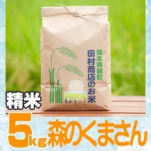 元年産 熊本県産★森のくまさん精白米5kg